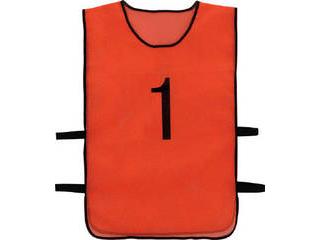 TRUSCO/トラスコ中山 番号安全ベスト 「1」~「10」各1枚セット オレンジ TBB-10SET