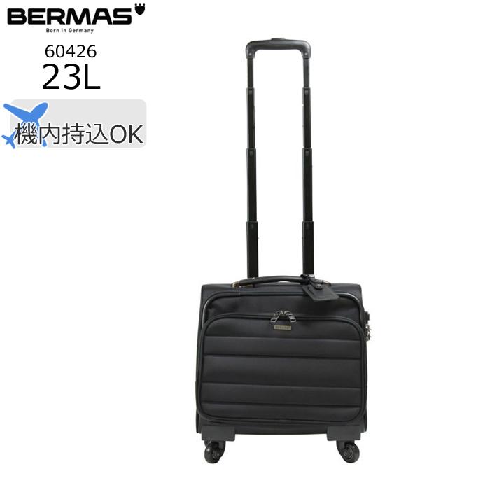 BERMAS/バーマス 60426 FUNCTION GEAR 横型四輪スーツケース(ブラック)【23L】 ビジネス キャリー スーツケース
