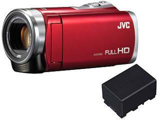 JVC/Victor/ビクター GZ-E109-R(レッド)+スペアリチウムイオンバッテリーセット【gze109set】 【ビデオカメラ】