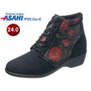 ASAHI/アサヒシューズ KS23423 快歩主義 L126AC レディース カジュアルブーツ 【24.0cm・3E】 (ブラック)