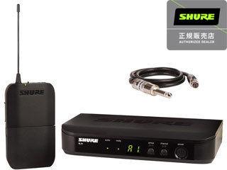 【nightsale】 SHURE/シュアー BLX14 ギター・ベース用 ワイヤレスシステム 【正規品】【SWBLX】【RPS160228】【送信機と受信機の1セット+楽器接続のケーブル付属】 【BLXボディーパックシステム&WA302ギター・ケーブル】