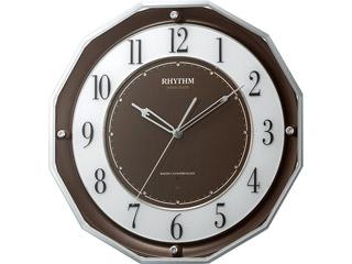 RHYTHM/リズム時計 【メーカー在庫限り】4MY846SR06 【スリーウェイブM846】 高感度電波時計 茶/スリーウェイブ/サイレントステップ秒針