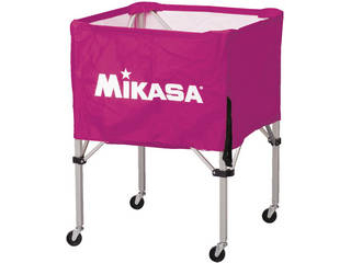 MIKASA/ミカサ 器具 ボールカゴ 箱型・中(フレーム・幕体・キャリーケース3点セット) バイオレット BCSPS-V