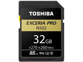 TOSHIBA/東芝 8K対応 SDHCメモリカード 32GB Class10 UHS-II対応 EXCERIA PRO SDXU-D032G