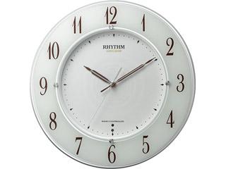 RHYTHM/リズム時計 【メーカー在庫限り】4MY847SR03 【スリーウェイブM847】 高感度電波時計 スリーウェイブ/サイレントステップ秒針