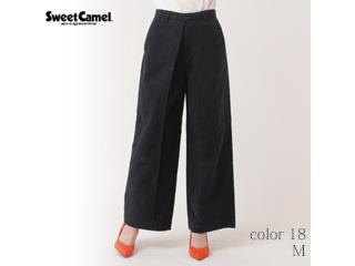 Sweet Camel/スイートキャメル スウェードタッチモールスキンワイドパンツ【18=ネイビー/M】(CA6324)