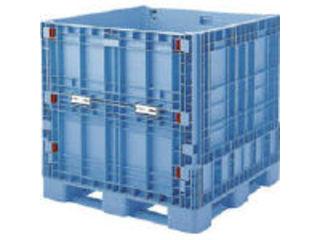 【組立・輸送等の都合で納期に4週間以上かかります】 GIFU/岐阜プラスチック工業 【代引不可】RISU/リス パレットボックスBJB-S・1111X110 折りたたみ 青 BJBS1111X110B