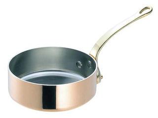 WADASUKE/和田助製作所 SW 銅 極厚 浅型 片手鍋 蓋無(真鍮柄)30cm