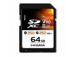 I・O DATA/アイ・オー・データ UHS-II UHSスピードクラス3/Video Speed Class 90対応 SDXCメモリーカード 64GB SD2U3-64G
