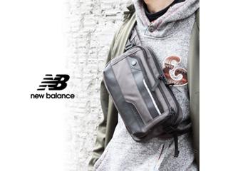 NewBalance/ニューバランス ナイロン ヒップバッグ 【グレー】■ESSENCIAL (JABL9767)