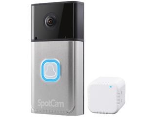 SpotCam/スポットカム 【ピンポン詐欺対策】【世界中どこからでも話せる】クラウド対応フルHDドアベルカメラ SpotCam-Ring 【テレビで紹介されました!】