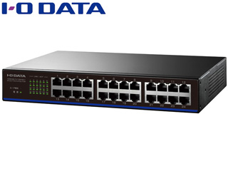 I・O DATA アイ・オー・データ 100BASE-TX/10BASE-T対応 24ポートスイッチングハブ ETX-ESH24NCK ブラック