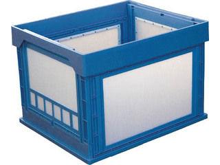KUNIMORI/国盛化学 プラスチック折畳みコンテナ パタコン N-107 ブルー 50190-N107-B