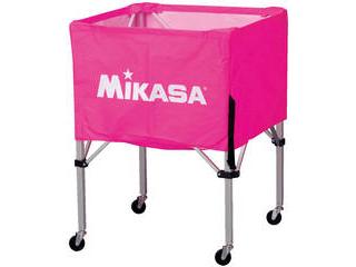 MIKASA/ミカサ 器具 ボールカゴ 箱型・中(フレーム・幕体・キャリーケース3点セット) ピンク BCSPS-P