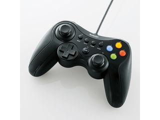 Xinput DirectInput両対応で幅広いゲームが楽しめる マーケティング 新規格Xinput方式に対応したUSB接続タイプのゲームパッド ELECOM エレコム Xinput対応 ブラック 贈り物 振動 連射機能付 JC-U3613MBK 12ボタンUSBゲームパッド