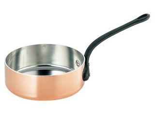 WADASUKE/和田助製作所 SW 銅 極厚 浅型 片手鍋 蓋無(鉄柄)18cm