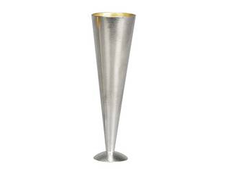能作 能作 錫 シャンパングラス 金箔 L 180 501345