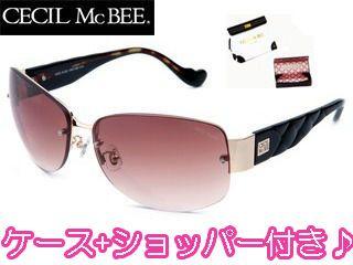 CECIL Mc BEE/セシルマクビー CMS-1002-2 CECILMcBEE サングラス [ゴールド/デミブラウン×ブラウングラデーション]