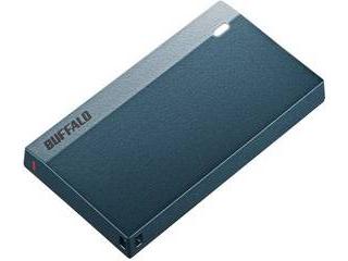 BUFFALO バッファロー USB3.2(Gen1) 超小型ポータブルSSD 960GB モスブルー SSD-PSM960U3-MB