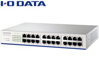 I・O DATA アイ・オー・データ 100BASE-TX/10BASE-T対応 24ポートスイッチングハブ ETX-ESH24NCW ホワイト