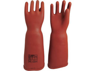 WATABE/渡部工業 高圧ゴム手袋460mm胴太型Sサイズ 555-S