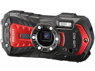 【お買い得セットもあります!】 RICOH/リコー RICOH WG-60(レッド) 防水コンパクトデジタルカメラ FlashAir対応/マクロ照明/アウトドアモニター/CALSモード搭載