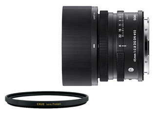 SIGMA/シグマ 45mm F2.8 DG DN Contemporary ソニー E マウント用+EXUS レンズ保護フィルターセット