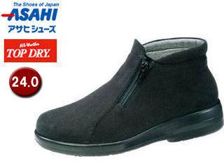 ASAHI/アサヒシューズ AF39129 TDY39-12 トップドライ ブーツ レディース 【24.0】 (ブラックPB)