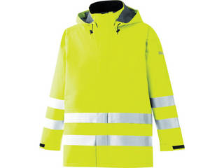 MIDORI ANZEN/ミドリ安全 雨衣 レインベルデN 高視認仕様 上衣 蛍光イエロー Lサイズ RAINVERDE-N-UE-Y-L