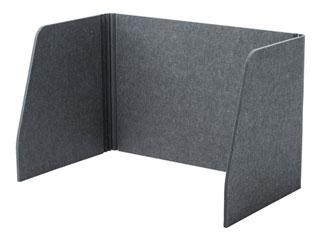 サンワサプライ デスクパーティション(三面タイプ)ライトグレー SPT-DPSM075