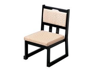 【代引不可】木製 新優高椅子 ベージュ布横張