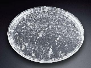 水晶縁どり丸型焼肉プレート/TY-A-003 38cm