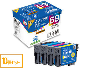 JIT/ジット 【10個】エプソン リサイクルインク IC4CL69互換 4色パック JIT-E694P 【jitepson】