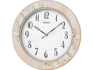 セイコー セイコー 電波掛時計/薄ピンク花柄/KX220P