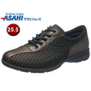 ASAHI/アサヒシューズ KS23431 快歩主義 M030AC メンズ 健康快適 ウォーキングシューズ 【25.5cm・4E】 (ブラウン)