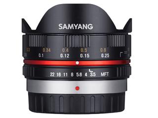 SAMYANG/サムヤン 7.5mm/F3.5 FISH-EYE(ブラック) マイクロフォーサーズ用 魚眼レンズ 【お洒落なクリーニングクロスプレゼント!】