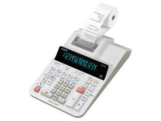 CASIO/カシオ計算機 プリンター電卓 加算機方式 14桁 DR-240R-WE