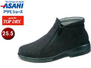 ASAHI/アサヒシューズ AF39129 TDY39-12 トップドライ ブーツ レディース 【25.5】 (ブラックPB)