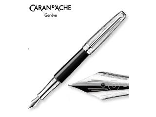 CARAN dACHE/カランダッシュ 【Leman/レマン】バイカラー ブラック 万年筆 F 4799-279