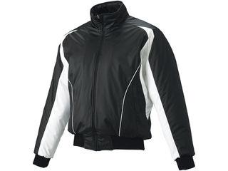 SSK/エスエスケイ BWG1002-9010W 蓄熱グラウンドコート・フロントフルZIP・中綿 【S】 (ブラック×ホワイト×ホワイト)