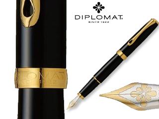 DIPLOMAT/ディプロマット 【Excellence A/エクセレンスエー】ブラックラッカー ゴールド 14K FP (M)