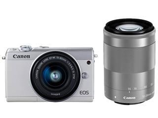 CANON/キヤノン EOS M100・ダブルズームキット(ホワイト) ミラ-レスカメラ 2210C024