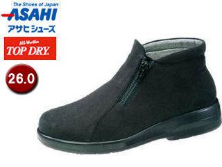 ASAHI/アサヒシューズ AF39129 TDY39-12 トップドライ ブーツ レディース 【26.0】 (ブラックPB)