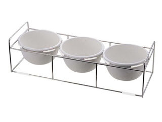 M.STYLE/ミヤザキ食器 ワイヤースタンドセット陶器28ボール付/BQ9909-2813(WH)