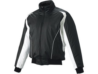 SSK/エスエスケイ BWG1002-9010W 蓄熱グラウンドコート・フロントフルZIP・中綿 【M】 (ブラック×ホワイト×ホワイト)