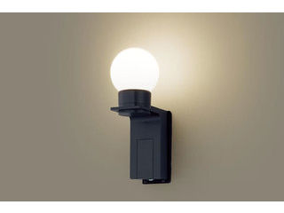 Panasonic/パナソニック LGWC85212K LEDポーチライト オフブラック【電球色】【明るさセンサ付】【壁直付型】