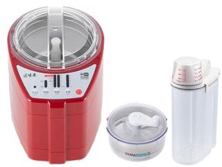 山本電気+アスベル MB-RC52R家庭用精米機 匠味米 (レッド)+E-HG18A胚芽ごはん+密閉米びつ2kg