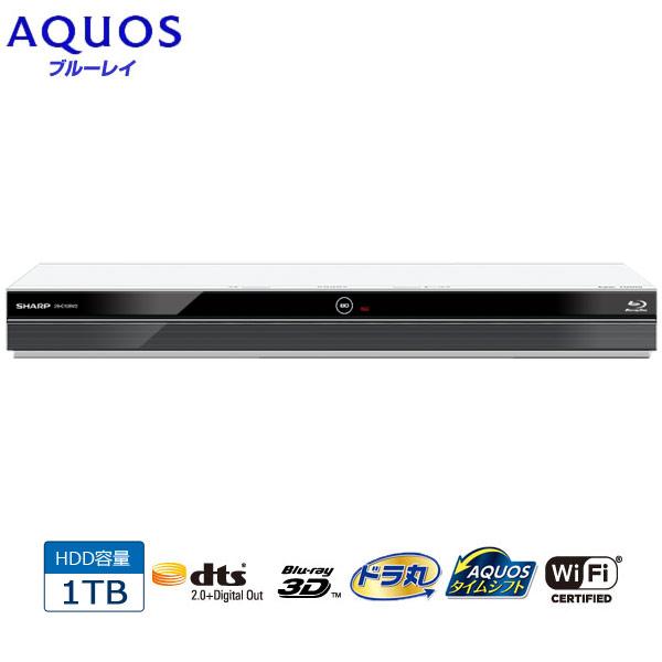 SHARP/シャープ 2B-C10BW2(ホワイト) AQUOS/アクオスブルーレイ 1TB ダブルチューナー/2番組同時録画/内蔵ハードディスク1TB