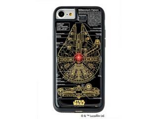アイアップ STAR WARS スター・ウォーズ グッズコレクション FLASH M-FALCON 基板アート iPhone 7/8ケース 黒 F7/8B