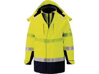 XEBEC/ジーベック 801 高視認防水防寒コート 3Lサイズ イエロー 801-80-3L